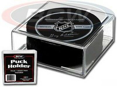 (6) BCW Hockey Puck Square Display Case Holders - FREE SHIPPING