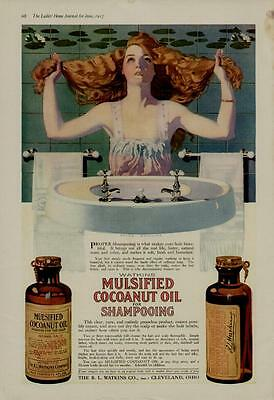 1917 Mulsified Shampooing Ad / Artists: Coles Phillips - Watkins Co. - Wow!!!