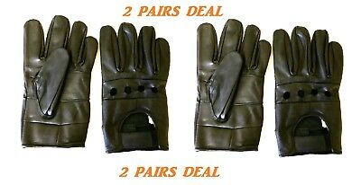 Men's Lambskin Leather Dressing Driving Unlined Biker Gloves All Sizes #1098