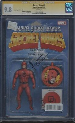 Secret Wars #6 Action Figure Variant_CGC 9.8 SS_Signed by Charlie Cox Daredevil