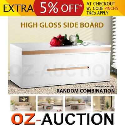 High Gloss Side Board Storage Cabinet Cupboard TV Stand Unit Entertainment
