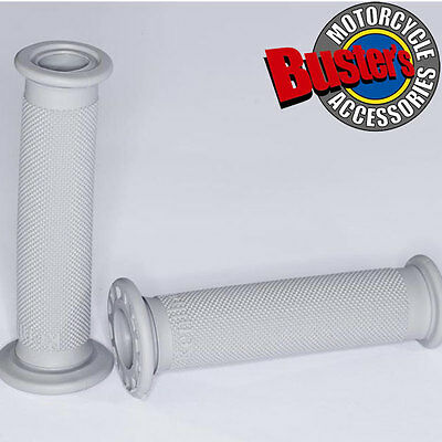 New Renthal Road Race Motorcycle Handlebar Grip Soft Grey Compound Grips Pair