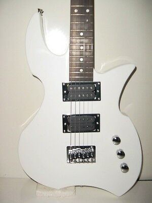 New Full Size 6 String  White Glen Burton Prowler Electric Guitar With Gig Bag