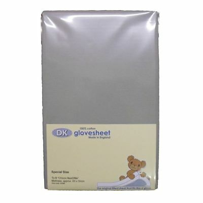DK Glovesheets Chicco Next 2 Me / Lullago Fitted Cotton Sheet (Grey)