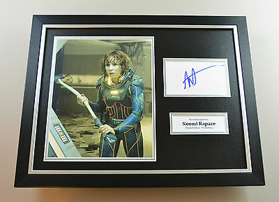 Noomi Rapace Signed Photo Framed 16x12 Autograph Prometheus Display Memorabilia