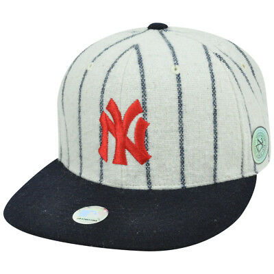 MLB New York Yankees American Needle Cooperstown Fitted Flat Replica Hat Cap 3b06f4cb8723