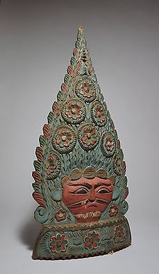 Reduced! Old Madura Island Colorful Antique finial with floral motif