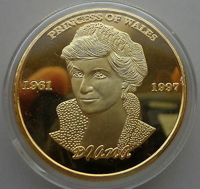 DIANA 1 oz .gold plated Commemorative COIN