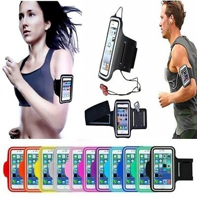For Samsung Galaxy Waterproof Sport Running Armband Leather Phone Bag Case Cover