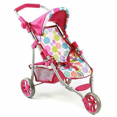 Bayer Chic 2000 Puppen Jogging-Buggy Lola Pinky Bubbles NEU