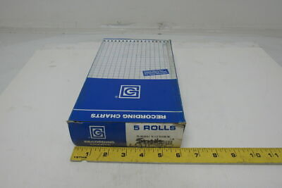 """Graphic Controls 00184317 4313-C Roll Strip Charts 5.969""""x103' lot of 5"""