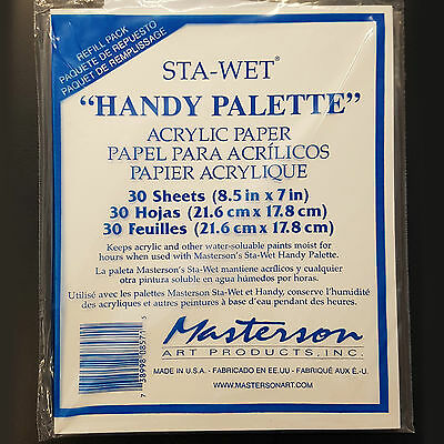Masterson Painters Handy Stay Wet Palette Refill Pk 30. For Artists Acrylic.