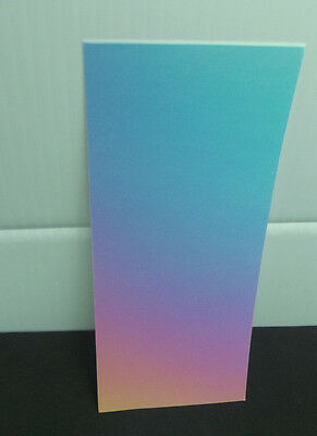 "FULL SHEET DICRO SLIDE Dichroic Coated Paper RAINBOW 3.2 x 8"" Works with any COE"