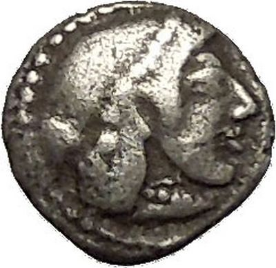 SYRACUSE in SICILY 475BC Silver Litra NYMPH Arethusa Silver Greek Coin i53977