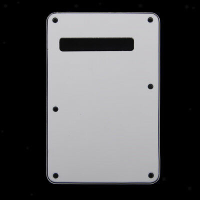 Electric Guitar 3-Ply Backplate Cover fit Fender Strat / Floyd Tremolo White