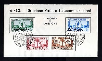 8083-ITALIAN SOMALILAN-FIRST DAY COVER SOMALIA.1953.2ª FIERA.AFIS.Italy colonies