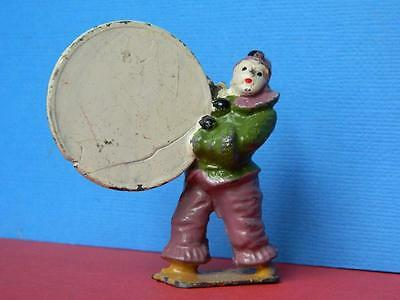 Vintage Rare Pre War Charbens Lead Mimic Circus Series Clown With Hoop