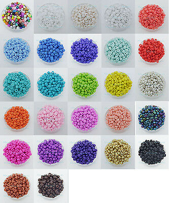 500 Pcs 3mm Czech Glass Seed Spacer beads Jewelry Making DIY Pick 27 Color-1 Z20
