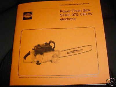 088 Stihl Chainsaw Parts List Manual