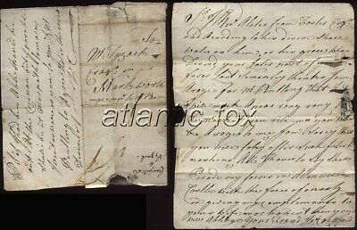 1780 Circa Letter  James Crawford to Mr Tyzack of Warkworth, carried privately