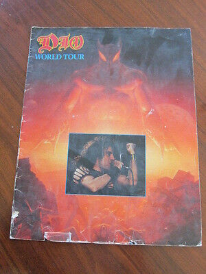 DIO World tour program 1984