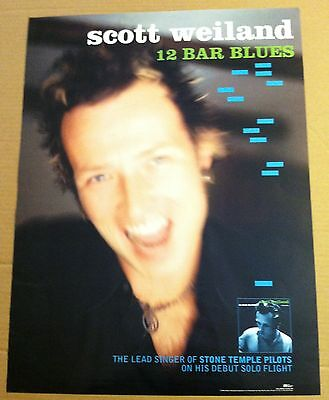 Stone temple Pilots SCOTT WEILAND 1998 PROMO POSTER for 12 Bar Blues CD MINT