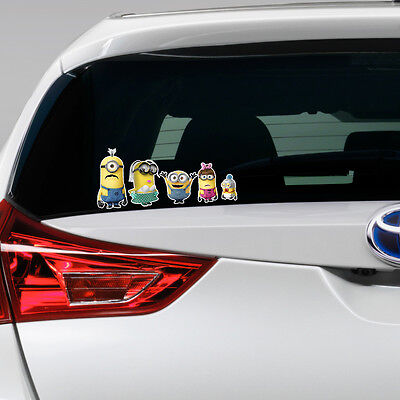Despicable ME 2 Minion Family Vinyl Decal Window Sticker My Car Bumper Gift