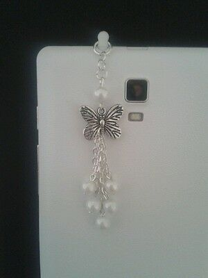 Butterfly Dangle Charm For Mobile Phone. Tablet. Ipad. Iphone. Dust Plug.