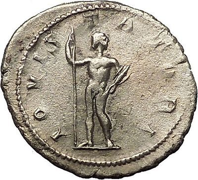 Gordian III 241AD Silver Authentic  Ancient Roman Coin Zeus Jupiter Cult i54242