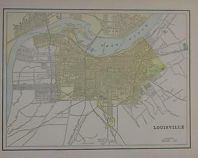 1898 Louisville, Ky. Color Atlas Map** Fargo map on back  114 years-old Beauty!!