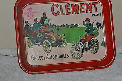 Clement  Paris  Cycles & Automobiles  Serving Tray - Red