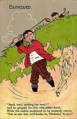 Golf Comic # 1188 in National Series by Millar & Lang. Bunkered.
