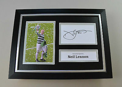 Neil Lennon Signed A4 Photo Framed Celtic Autograph Display Memorabilia + COA