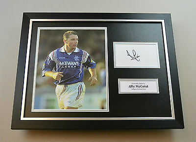 Ally McCoist Signed Framed 16x12 Photo Autograph Rangers Memorabilia Display COA