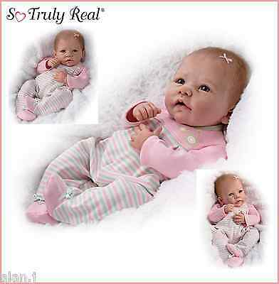 "Ashton Drake Doll ""Elizabeth"" Weighted - poseable baby girl  Free UK delivery!"