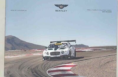 2015 Bentley Continental GT3 Pirelli Challenge Racing & GT Speed Brochure wv5751