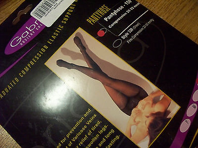 Gabrialla Compression Pantyhose U CHOOSE SIZE BLACK  (23-30 mmHg)