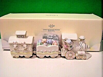 LENOX OCCASIONS EASTER TRAIN sculpture NEW in BOX bunny rabbit egg