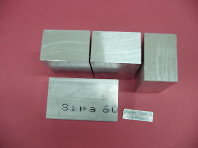"""4 Pieces 2-1/2""""x 2-1/2"""" ALUMINUM 6061 SQUARE BAR 1.5"""" long Solid T6 Mill Stock"""