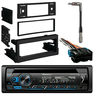 pioneer bluetooth cd usb radio, gm dash kit, antenna adapter, gm wire  harness