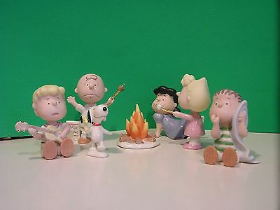 LENOX PEANUTS CAMPING ADVENTURE 7 piece Set NEW in BOX withCOA Snoopy Linus Lucy