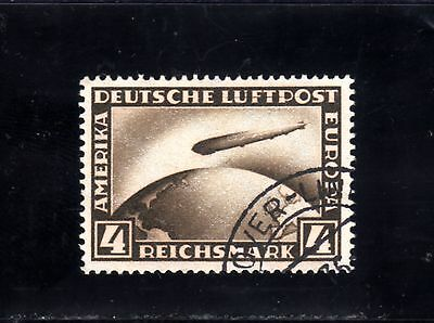 1648-GERMAN EMPIRE-Yv.37.Used.1928.GRAF ZEPPELIN POLAR TRIP.DEUTSCHES REICH.Luxe