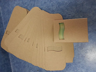 Kraft Soap Box Med Size 50 Open Wave Window Square Cut Out On Front Very Cute!