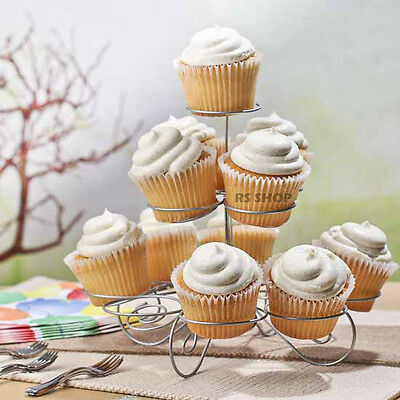 3 Tier 13 Cupcake Party Holder/Stand - Wedding Birthday Metal Display Muffin NEW