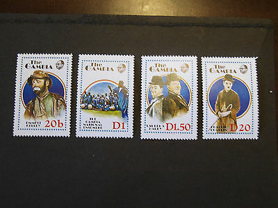 Gambia - !988 Entertainers - Part Set/ Mint