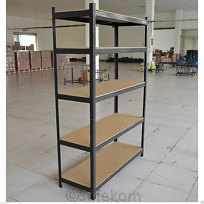 1 Bay Garage Shelving Unit Heavy Duty 5 Tier Steel Industrial Racking Storage UK