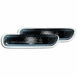 Ultra Side Marker Lights Repeaters Pair Smoked Black BMW 3 Series E46 98-01