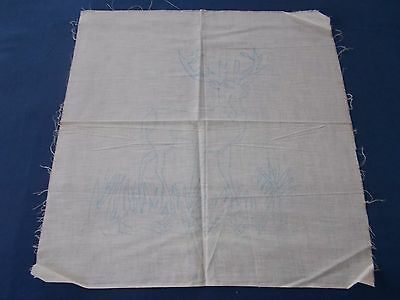 Vintage Stamped Punchneedle Punch Needle Pattern For Pillow Deer Canvas Cloth