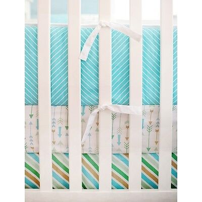 'My Baby Sam' Follow Your Arrow Aqua Crib Bumper
