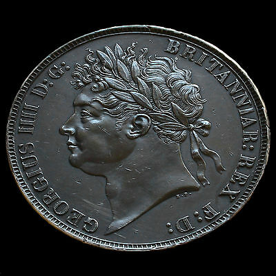 1821 George IIII Milled Silver Secundo Crown – G/EF